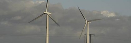 Image of wind turbines from Esther Johnson, Abstractions of Holderness