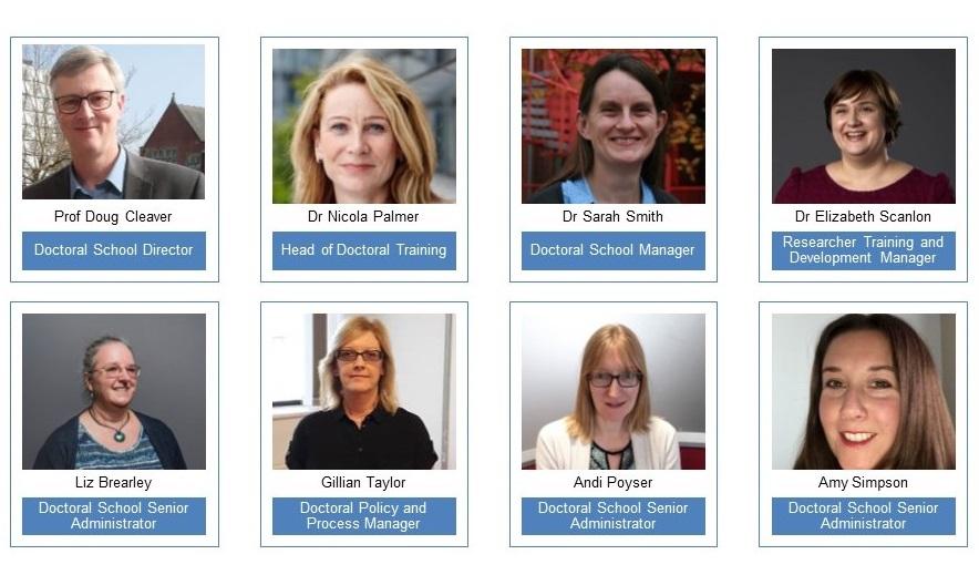 photos of Doctoral School team members