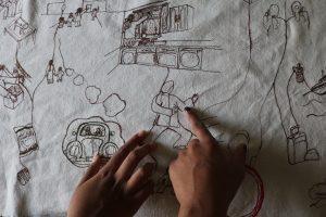 Chandni stitching and hands