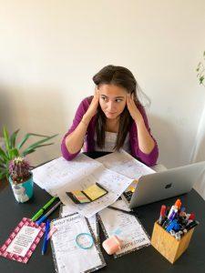 Daniela at her desk