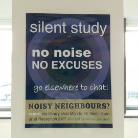 Quiet and silent study areas