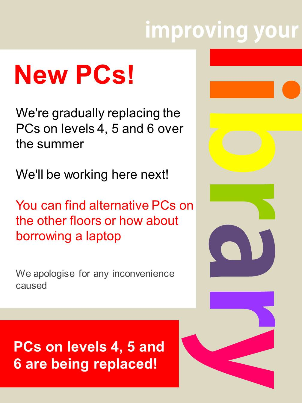 New PCs for levels 4, 5 and 6 in Adsetts!