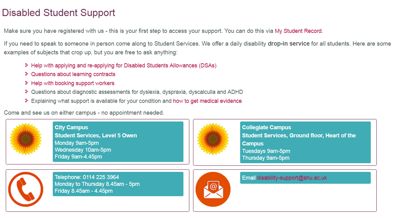 Disabled Student Support welcomes new and returning students!