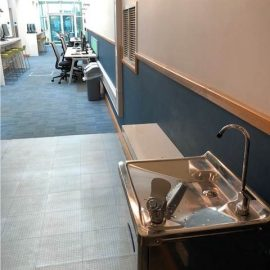New Water Fountain in Collegiate Library!