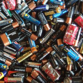 Battery testing and recycling facilities for students