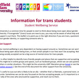 Information for Trans Students