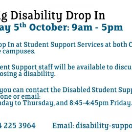 Disability Drop In Day – Friday 5th October