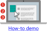 An example of screencasting used for a how-to demonstration