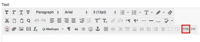 HTML button in Blackboard