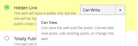 Hidden link can view