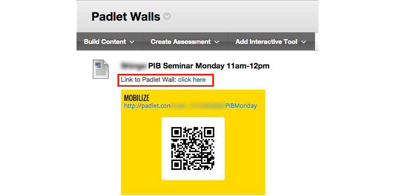 Padlet Wall link and QR code