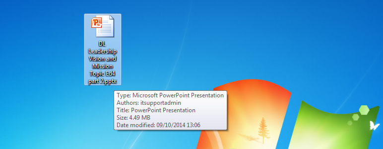 Copy the PowerPoint file
