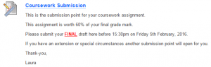coursework instructions
