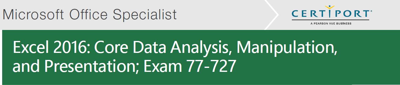 Image of Excel 2016 Exam