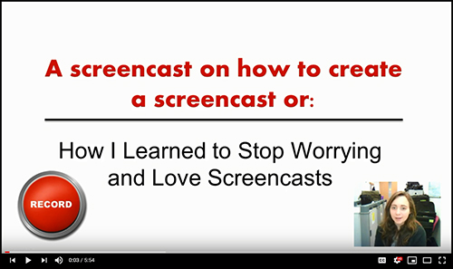 A picture of a screencast
