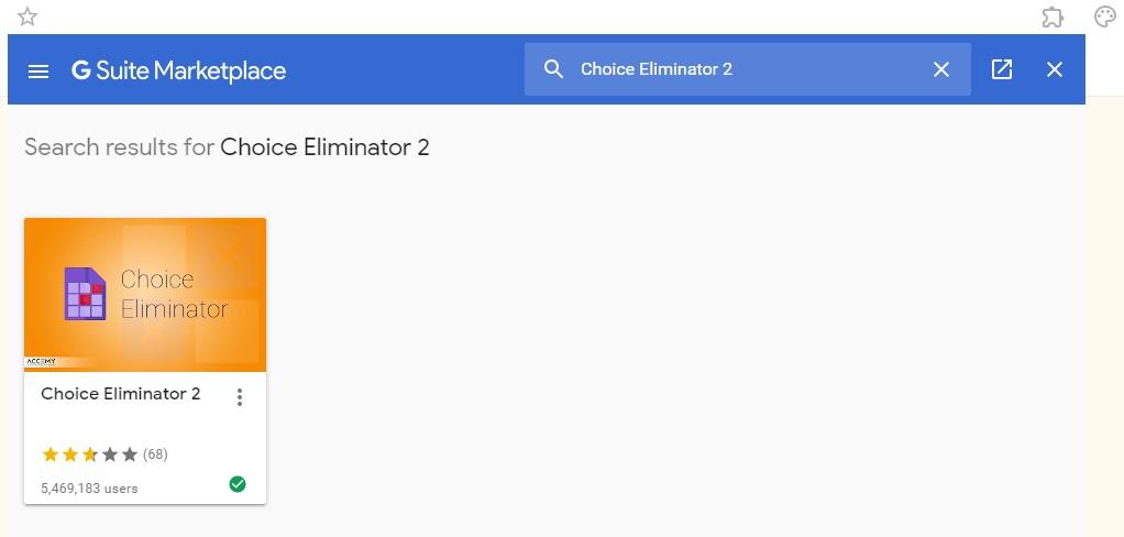 Installing Choice Eliminator 2