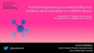 Transforming learning by understanding how students use social2