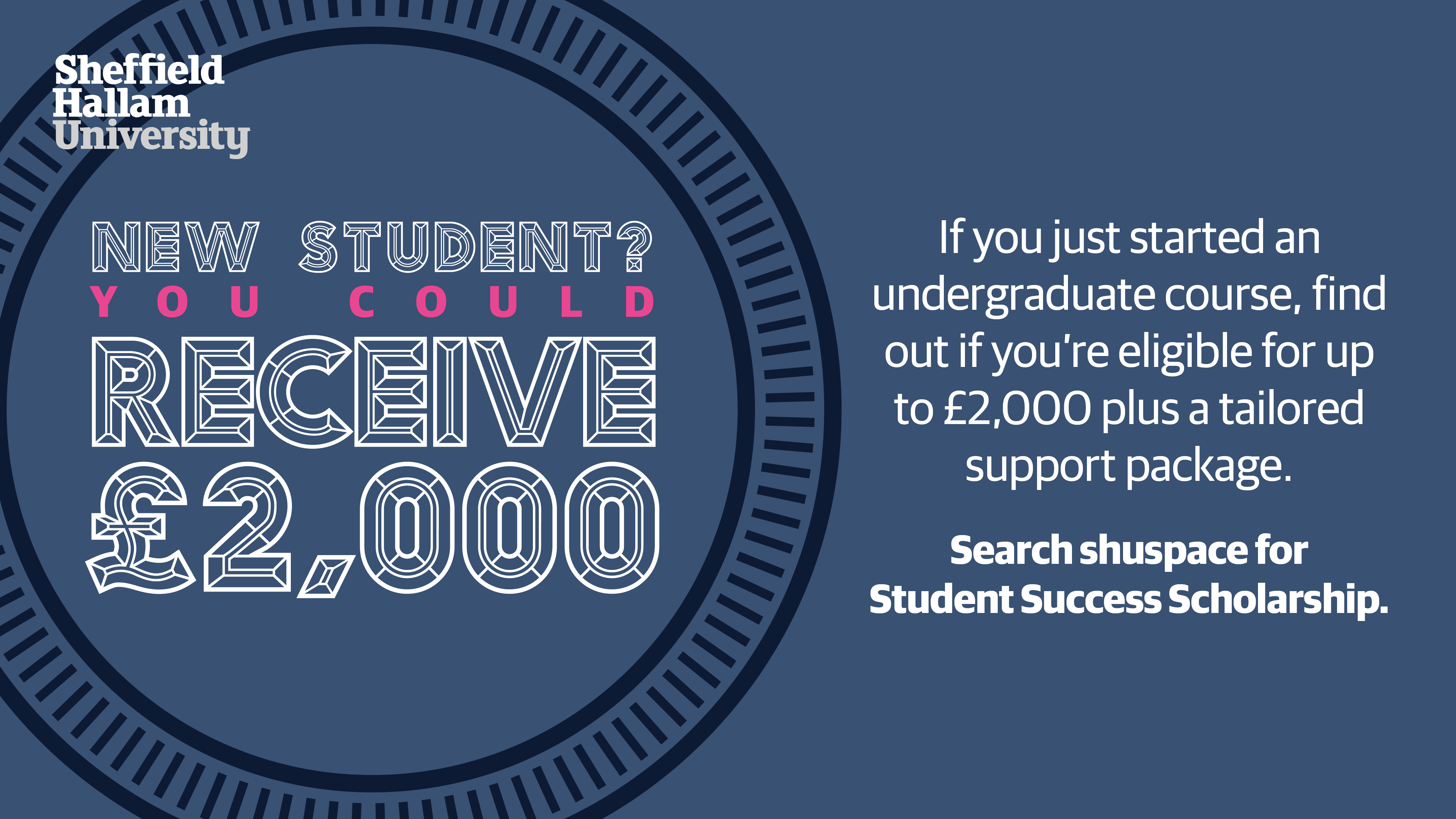 New Student Success Scholarship launches next week