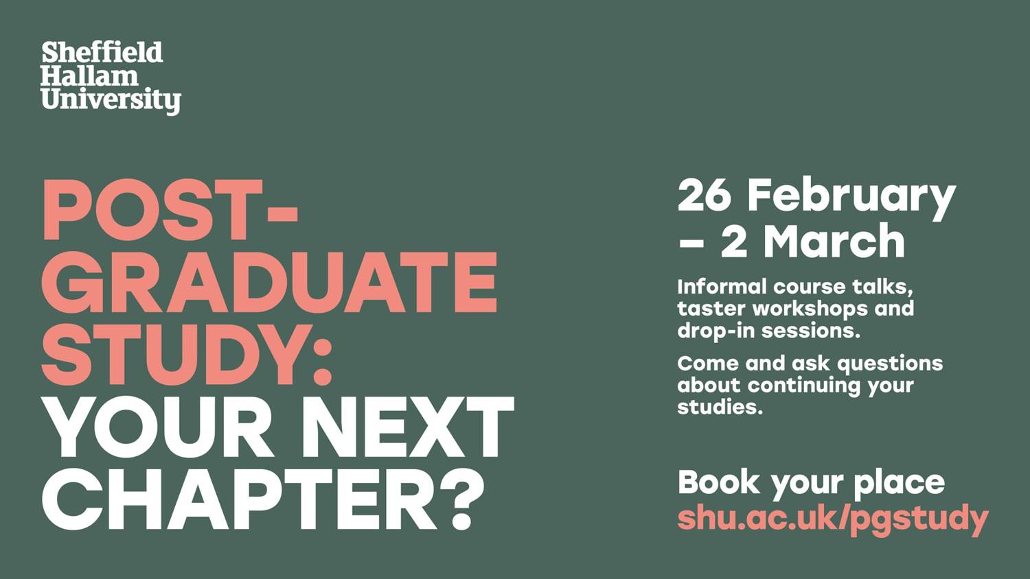 Post-graduate study: your next chapter?