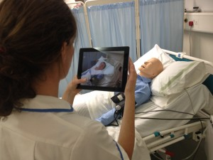 Augmented reality helping our nursing students learn interactively.